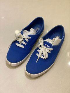 Keds藍色帆布鞋#東京