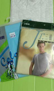 3件純棉質內衣(2件有袖/1件無袖) 100%cotton underwear 3 pieces #集氣