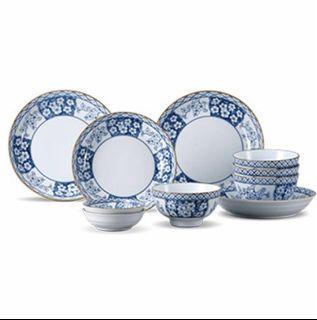 全新 日式餐具10件組 國際牌贈品日式碗盤