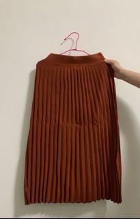 秋冬針織百摺長裙