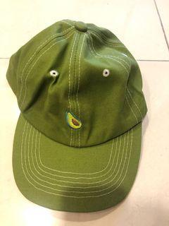 酪梨小圖 綠色棒球帽