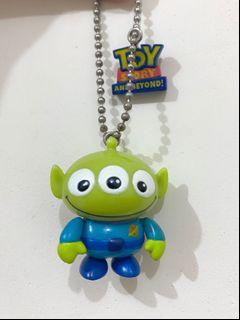 絕版 中古  迪士尼 反斗奇兵 三眼仔 公仔 擺設 擺件 收藏 鎖匙扣 disney toy story pixar alien figure toys doll