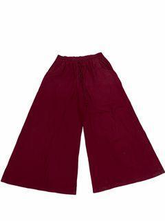 🔥 Celana Kulot Pants Pink Fanta Fuscion