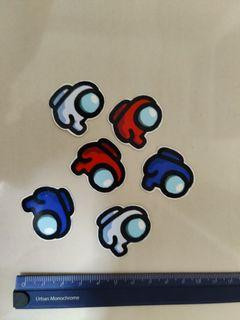 Among us Stickers- Cute Baby Stickers Red, Blue and more! waterproof glossy