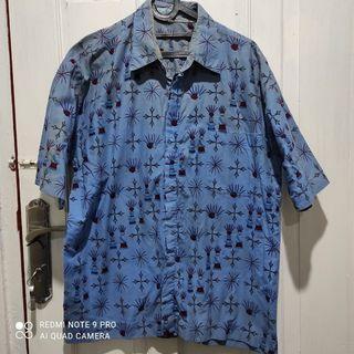 Batik Kemeja Biru XL