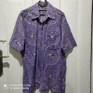 Batik Kemeja Ungu Motif XL