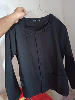 Blazer black hitam