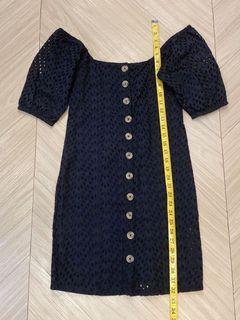 BNWOT Cotton On Black Eyelet Offshoulder Dress