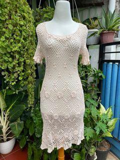 dress jaring knit