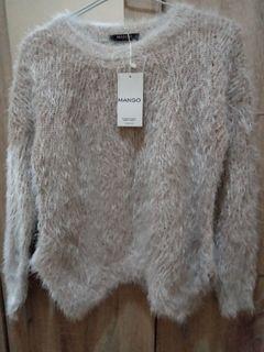 Fluffy sweater fuzzy mango