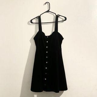 FOREVER 21 BLACK SUEDE DRESS.