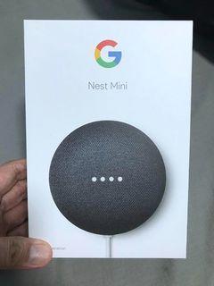 Google NEST MINI (2nd Generation) Smart Speaker. Brand new. Black