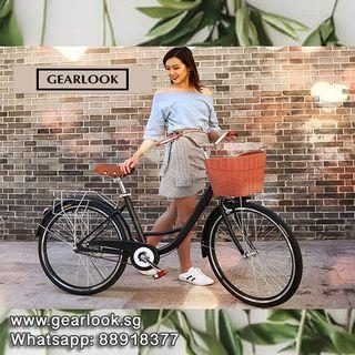 """INSTOCKS Vintage Lady bicycle 26"""" handbrakes mountain bike road bike cycle 