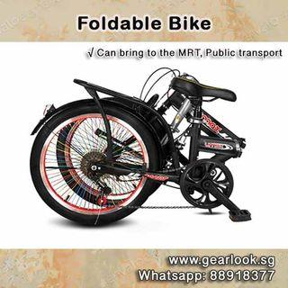 💥INSTOCKS💥 With 6 speed Gear / 20 inch foldable bike / foldable bicycle / handbrakes / aluminium frame / Full Suspension | Mountain / Road Bike / Road Bicycle [1-3 Days Delivery].*BEST DEAL*💥Whatapp us at 88918377💥