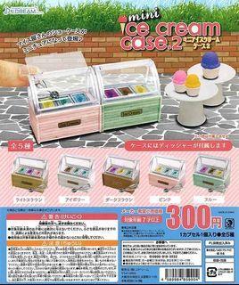 [J Dream] (Ready Stock) Miniature Mini Ice Cream Case 2 迷你冰淇淋展示柜2摆设日本扭蛋 - Gashapon/Gachapon Capsule Toy