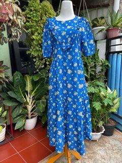 long dress vintage biru