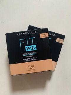 Maybelline fit me compact powder shade 120 & 128