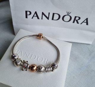 Pandora charms and bracelet