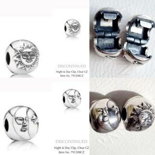 Pandora Day and Night charm clips