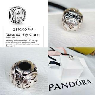Pandora Taurus Sign Charm