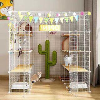 Pet Cat/Rabbit/Dog Fence Cage Playpen