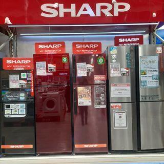 Sharp kulkas 2 pintu dengan berbagai type