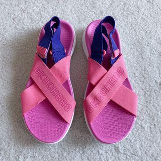 skechers goga mat elastic sandals