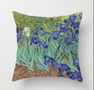 世界名畫梵高油畫鳶尾花雙面咕𠱸套 Van Gogh Iris Cushion Cover