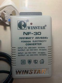 Winstar NF-30 Step Up/ Step Down Power Converter / Transformer