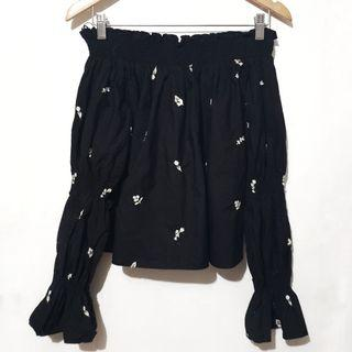 Zara embroided classy offshie