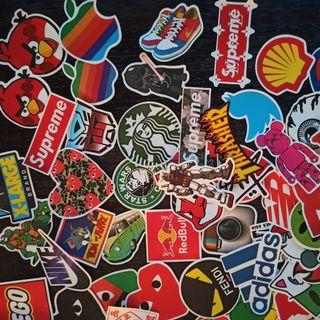 1$ or less Brand stickers
