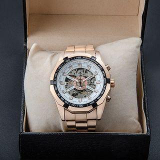 韓國立體雕花簍空機械錶  男錶 對錶 全自動機械鏤空男士鋼帶手錶  多款可選 送禮 自用都合適 🤑:880元。         🚚:80元