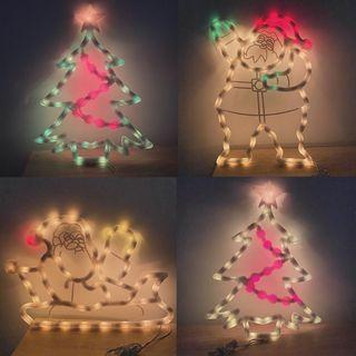 聖誕節燈飾 聖誕樹 聖誕老人 燈飾 佈置 生活 節日 慶祝