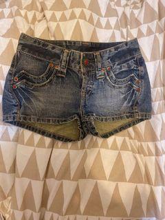 #集氣 經典Levi's Type 1系列 琺瑯鑲扣低腰牛仔短褲