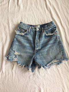 Agolde 26 long jean shorts