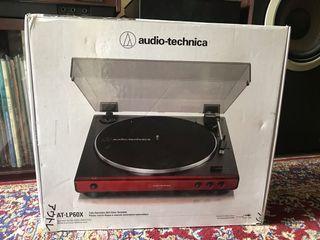 Audio Technica LP-60X Turntable Vinyl LP Piring Hitam Player