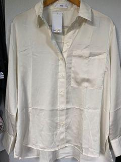Repriced!!! BNWT Mango Satin Button Down Shirt