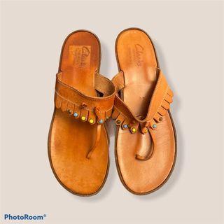Clarke's fringe tassel beaded sandals