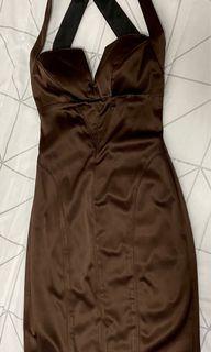 Corset Style Silk Dress