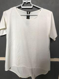 Cotton formal white top