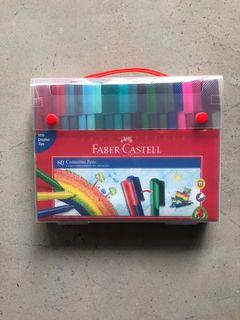 Faber Castell 60 Connector Pens, Aman untuk anak kecil, Washable/ bisa dicuci