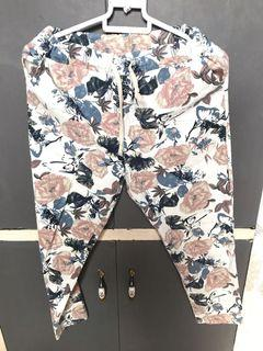 Floral candy or jogger pants