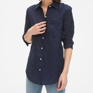 Repriced!!! Gap Boyfriend Button Down Shirt Navy