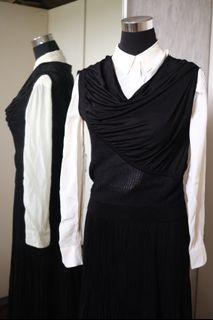 Gorgeous Anteprima Knit Jersey Combi Draped Top