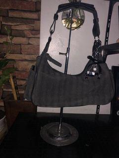 Gray Baguette Bag