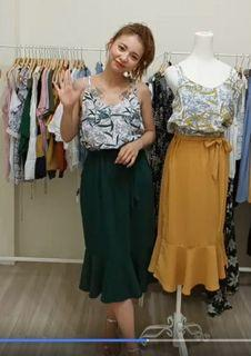 Harper魚尾裙附綁帶連身洋裝 S