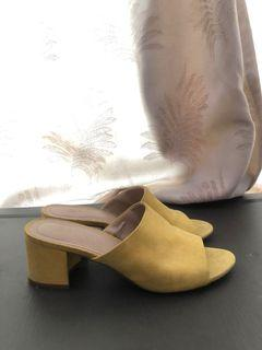 H&M Yellow Mules