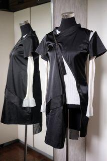 Jean Paul Gaultier Zipper Deconstructed Cape Dress