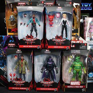 Marvel Legends Into The Spider-Verse Wave Gwen Stacy Spider Ham Miles Morales Peter Parker Prowler Frog Man NO Stilt-Man BAF