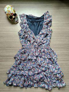 MORGAN Floral Ruffle Dress